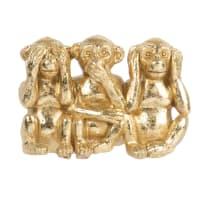 DAKO - Statuetta 3 scimmie sagge dorata alt. 7 cm