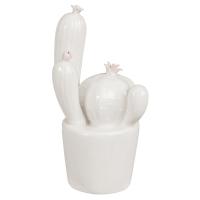 Statuette cactus en porcelaine blanche H11 Cutty