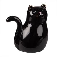 Statuette chat en céramique noire H16 Biggy
