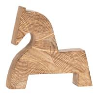 BEKA - Statuette cheval en manguier H17