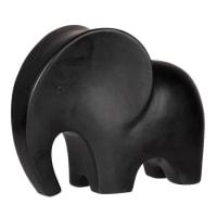 CLIFTON - Statuette éléphant en dolomite noire H8