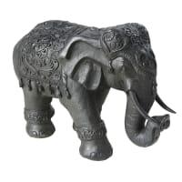 Statuette éléphant noire H34 Rosie