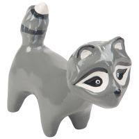 Statuette raton laveur gris H6 Bobby