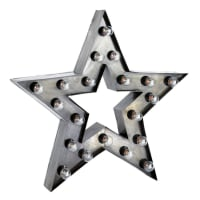 Sternförmige Wandleuchte im Industrial-Stil ALAMBA aus Metall, H 80cm Alabama