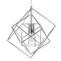 Suspension filaire en métal chromé  Trio