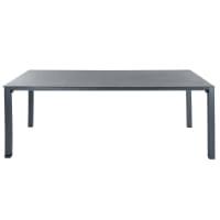 SQUARE GARDEN - Table de jardin en verre trempé et aluminium anthracite L 220 cm