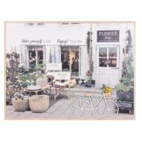 Tableau devanture fleuriste 45x60 City Flower Shop