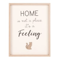 Tableau imprimé 22x28 Feeling Home Cat