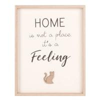 Tableau imprimé 28x22 Feeling Home Cat