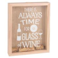 Tableau imprimé avec bouchons de liège 21x26 Wine Time