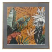 Tableau imprimé jungle 35x35 So Wild