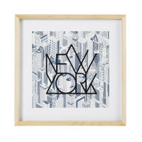 Tableau imprimé New-York en paulownia 40x40 Atelier Hype