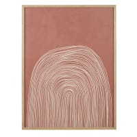 CRISTIA - Tableau imprimé terracotta et beige 75x100