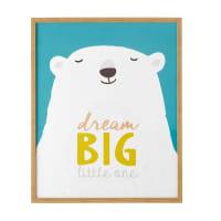 Tableau ours polaire 62 x 72 cm Kimo