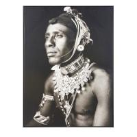 Tableau photo portrait noir et blanc 88x117 Mademba