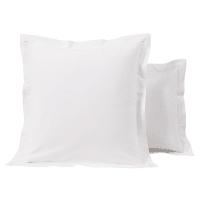 Taie d'oreiller hôtellerie en percale de coton blanc 63x63 Luce Pro