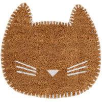 OLLIE - Tapete em forma de gato castanho 40x38