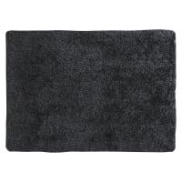 Tapis à poils longs gris anthracite 140 x 200 cm Polaire