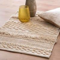 Tapis berbère en coton écru 60x90 Blida