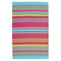 Tapis d'extérieur à rayures en polypropylène multicolore 120x180 Rio