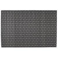 Tapis d'extérieur en polypropylène noir/blanc 120x180 Kamari