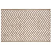 Tapis d'extérieur marron motifs graphiques 160x230 Angaur
