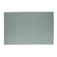 Tapis d'extérieur vert motifs graphiques blancs 180x270 Zesti