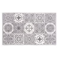 Tapis de bain en coton motifs carreaux de ciment 50x80 Floris