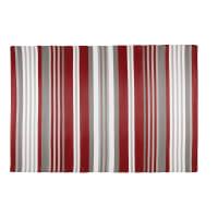 Tapis de jardin en tissu rayé rouge et blanc 180x270 Espelette
