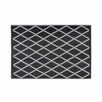 Tapis de jardin motifs noirs et blancs 180x270 Losia