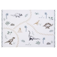 Tapis en coton blanc imprimé 120x180 Dino