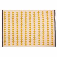 Tapis en coton écru motifs jaunes 180x120 Naomi