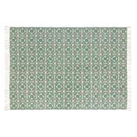 Tapis en coton motifs graphiques verts 140x200 Blocalia