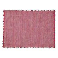 Tapis en coton rose fuchsia 120 x 180 cm Pompon