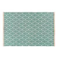 Tapis en coton vert motifs graphiques 160x230 Greeny