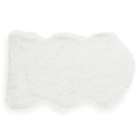 Tapis en fausse fourrure blanc 60 x 100 cm Eskimo