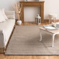 Tapis en laine beige 160 x 230 cm Industry