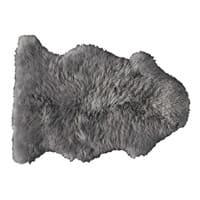 Tapis en peau de mouton gris 55 x 90 cm