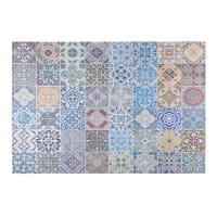 Tapis en tissu motifs carreaux de ciment multicolores 150x230cm Capri