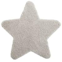 Tapis étoile beige 100x100 Gaspard