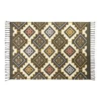 Tapis kilim en laine et coton multicolore 140x200 Laurene