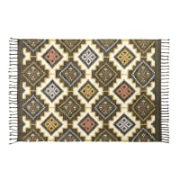 Tapis kilim en laine et coton multicolore 160x230 Laurene