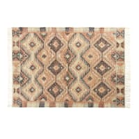 Tapis kilim en laine multicolore 140x200 Winona