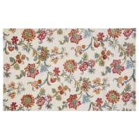 Tapis motif floral multicolore 140x200 Zing