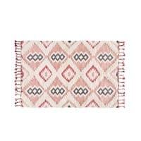 Tapis tissé motifs graphiques terracotta 160x230 cm Assouan