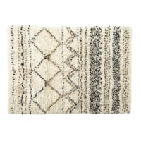 Tappeto berbero in lana e cotone effetto shaggy, 140x200 cm Land