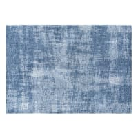 Tappeto blu a motivi jacquard, 160x230