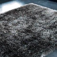 Tappeto grigio antracite a pelo lungo 140 x 200 cm Polaire