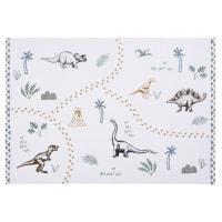 Tappeto in cotone bianco stampato, 120x180 cm Dino