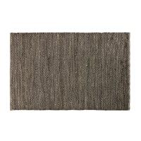 Tappeto in cotone e iuta nero e marrone motivi a spina di pesce, 140x200 cm Barcelone